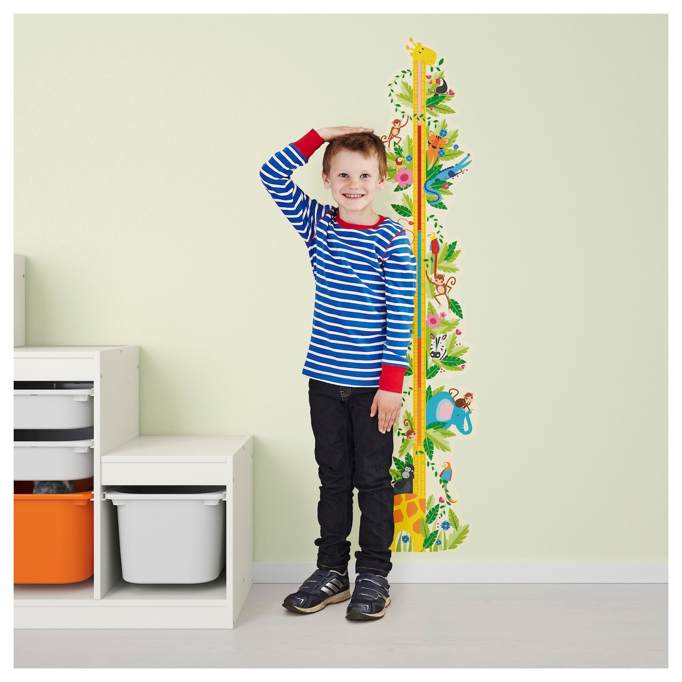 klAtta decoration stickers jungle height chart 135x31 cm ikea ikea klAtta decoration stickers
