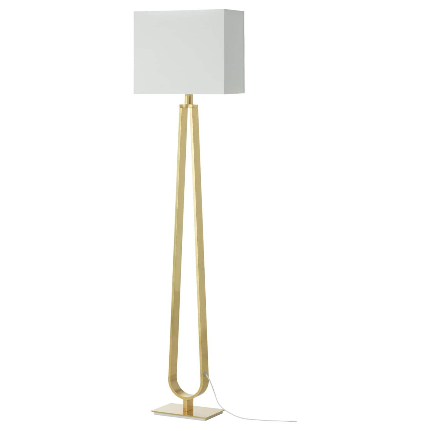 KLABB Floor lamp Offwhitebrasscolour 150 cm IKEA