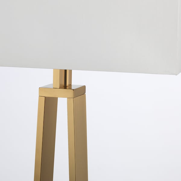 off white, brass colour, Table lamp