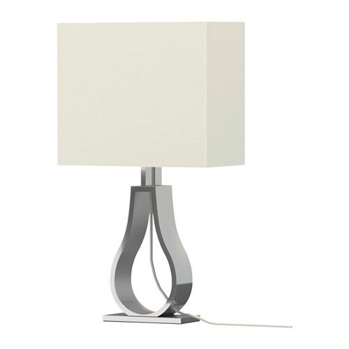 Klabb table lamp off white ikea - Lampe table ikea ...