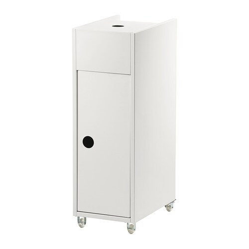 KLAMPEN Trolley IKEA Easy to move - castors included.  Perfect in a small bathroom.