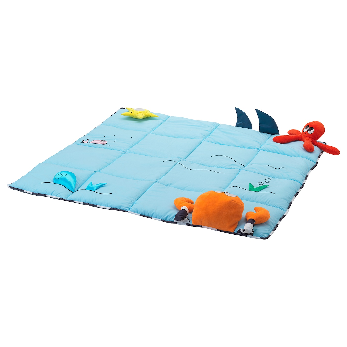 IKEA KLAPPA play mat Sharp contrasts that are easy for a baby to see.