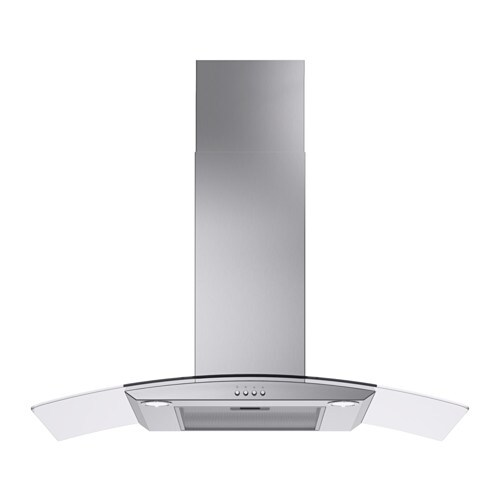 IKEA KLARLUFT wall mounted extractor hood Control panel placed at front for easy access and use.