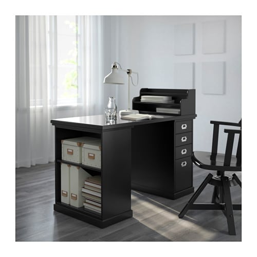 Klimpen add on unit black 58x23 cm ikea - Pied de table reglable ikea ...