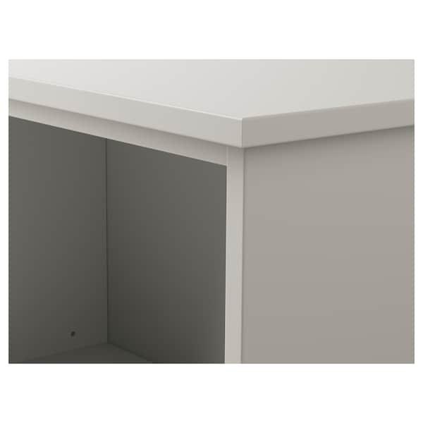 KLIMPEN table leg with storage light grey 58 cm 33 cm 70 cm