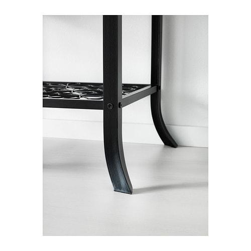 Ikea Hochbett Fjelldal Neupreis ~ KLINGSBO Glass door cabinet Black clear glass 45×180 cm  IKEA