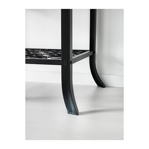 Ikea Faktum Suspension Rail ~ KLINGSBO Glass door cabinet Black clear glass 45×180 cm  IKEA