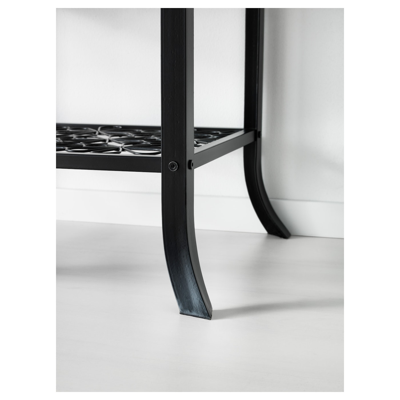 Folding Dinner Table Ikea Extendable Table ~ KLINGSBO Glass door cabinet Black clear glass 45×180 cm  IKEA