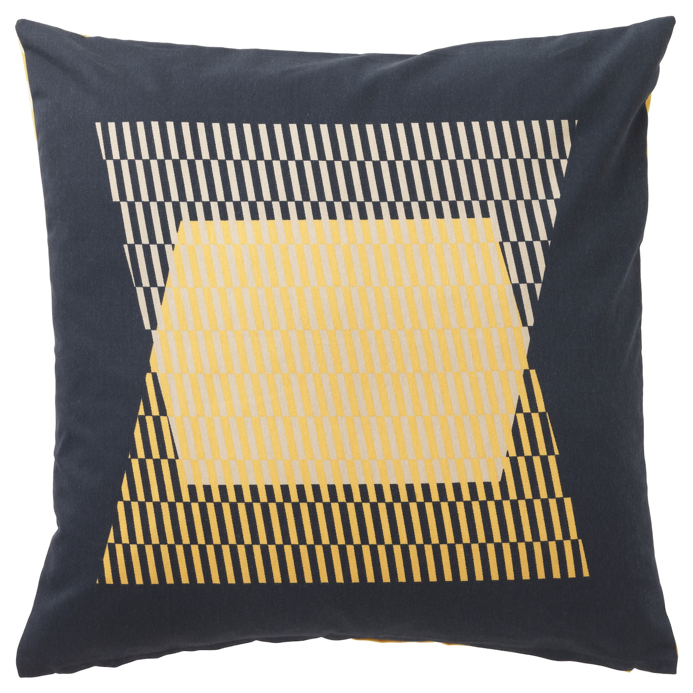 KLIPP–RT Cushion cover Yellow black 50x50 cm IKEA