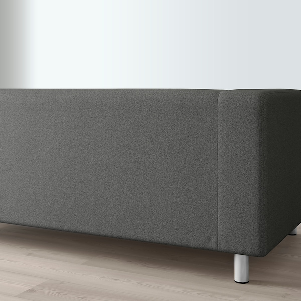 KLIPPAN 2-seat sofa, Flackarp medium grey