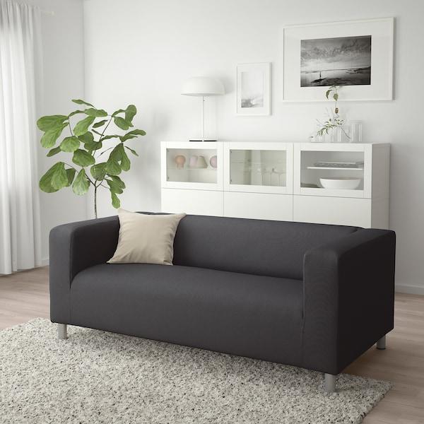 Klippan 2 Seat Sofa Kabusa Dark Grey Ikea