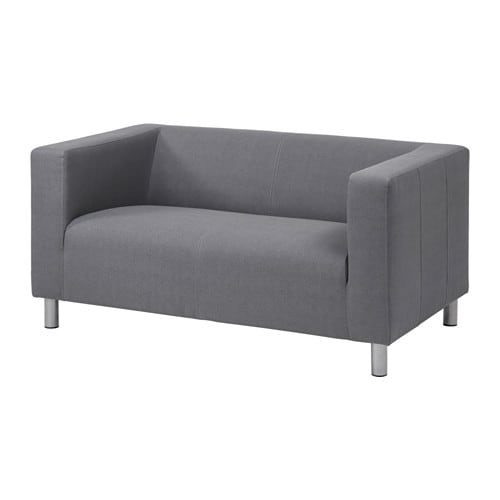 Klippan compact 2 seat sofa flackarp grey ikea for Ikea gray sofa