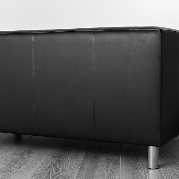KLIPPAN Compact 2-seat sofa, Kimstad black