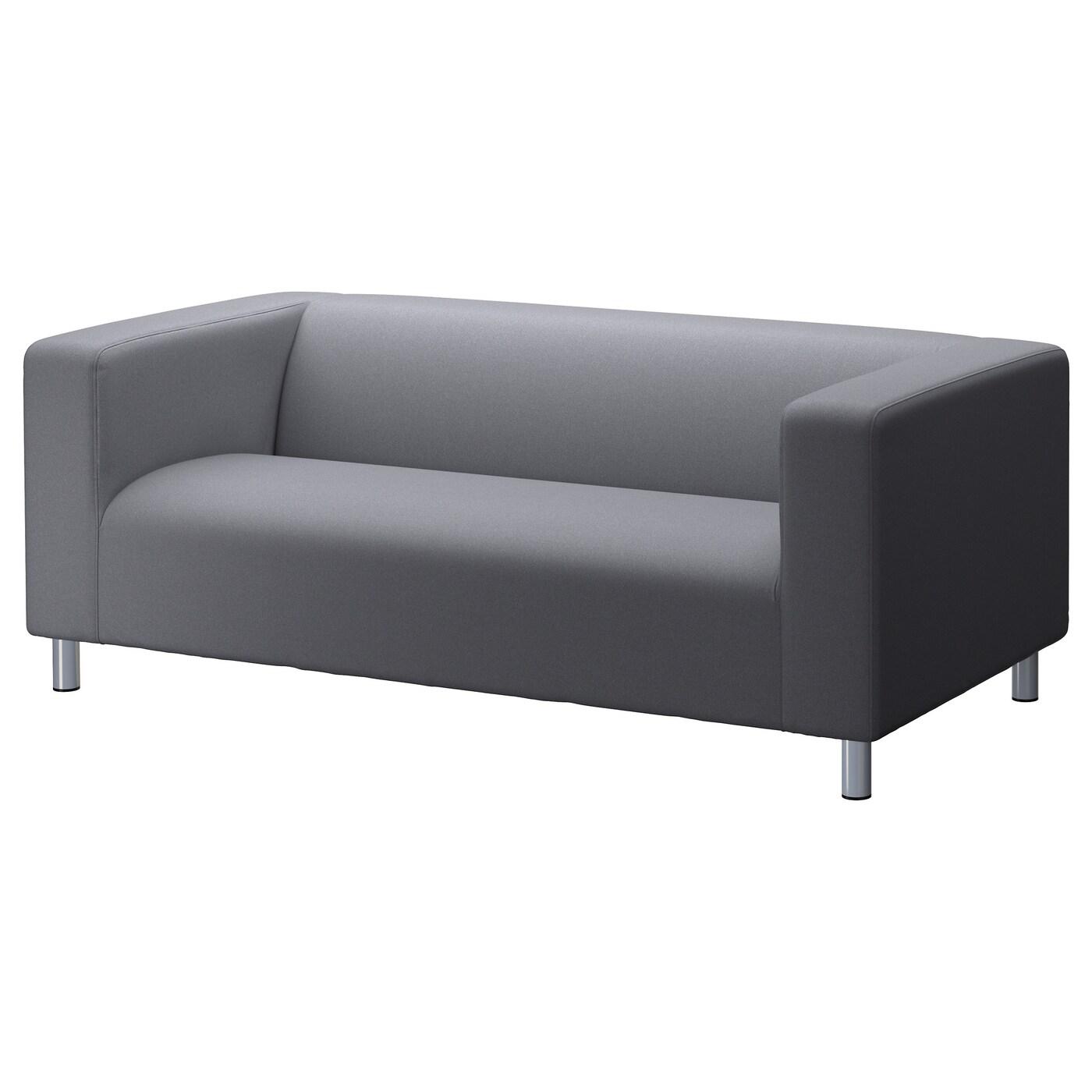 Klippan Flackarp Medium Grey Cover For 2 Seat Sofa Ikea