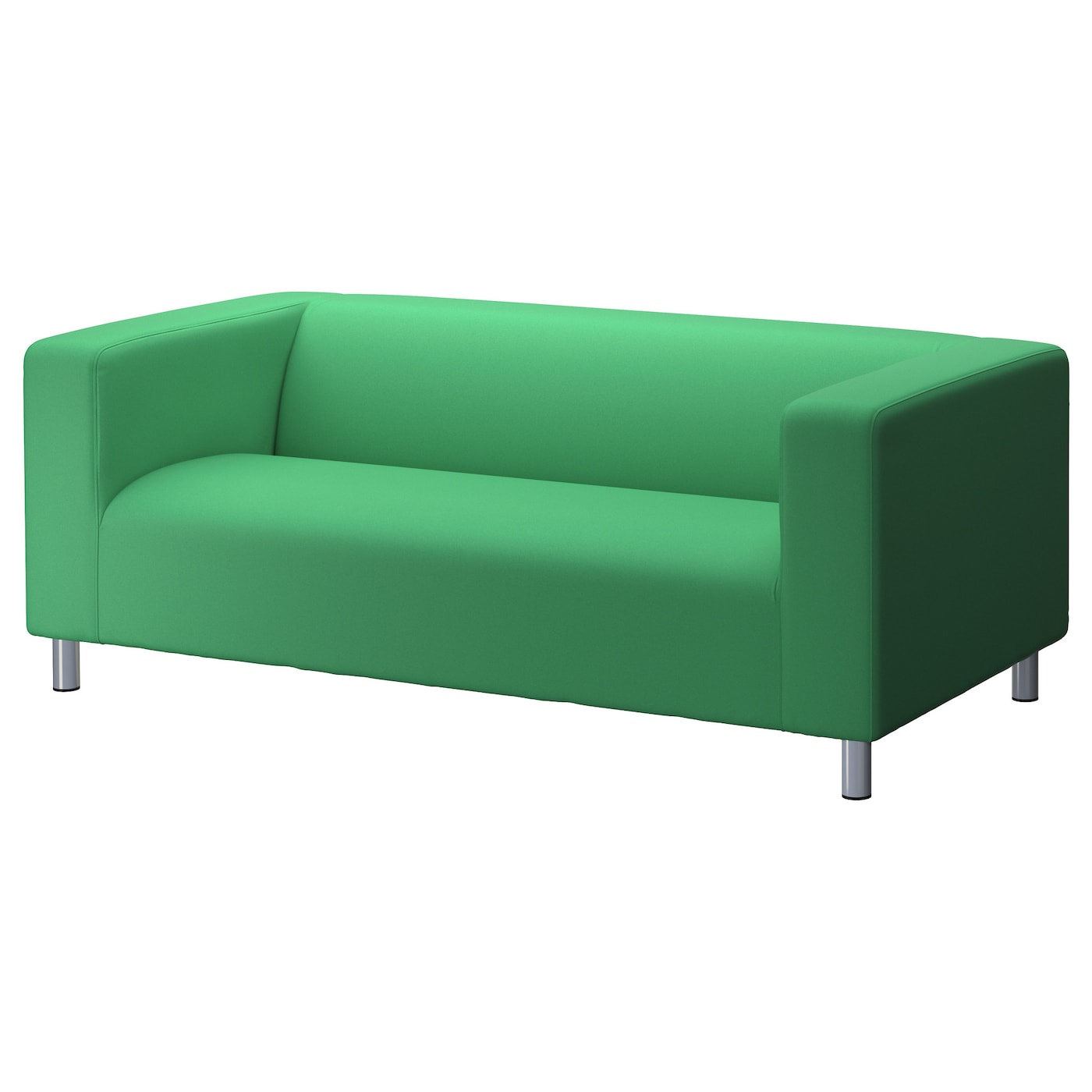 Klippan cover two seat sofa flackarp green ikea Klippan loveseat covers