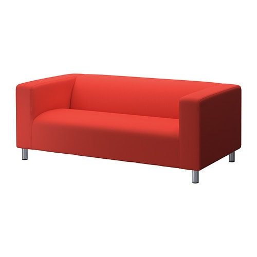 klippan cover two seat sofa flackarp red orange ikea. Black Bedroom Furniture Sets. Home Design Ideas