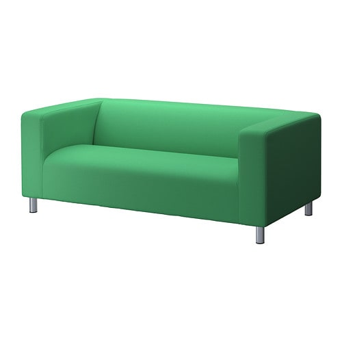 klippan cover two seat sofa flackarp green ikea. Black Bedroom Furniture Sets. Home Design Ideas