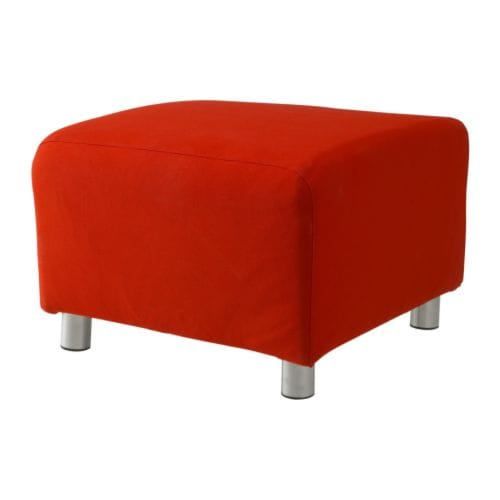 KLIPPAN Pouffe IKEA Extra covers are available for variation and renewal.  Easy to keep clean; removable, machine washable cover.