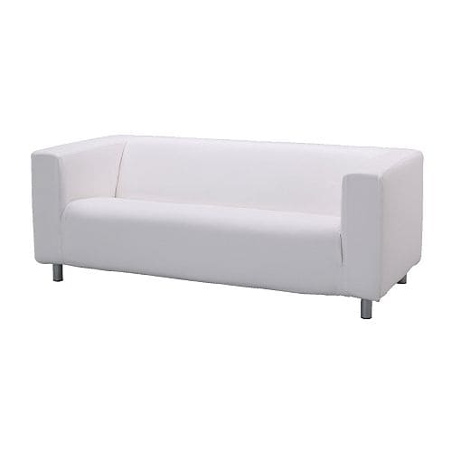 Klippan Two Seat Sofa Alme White Ikea