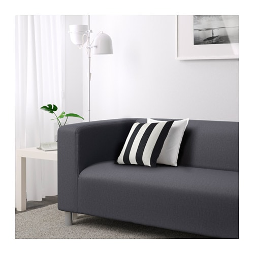 Klippan two seat sofa flackarp grey ikea - Klippan sofa ikea ...