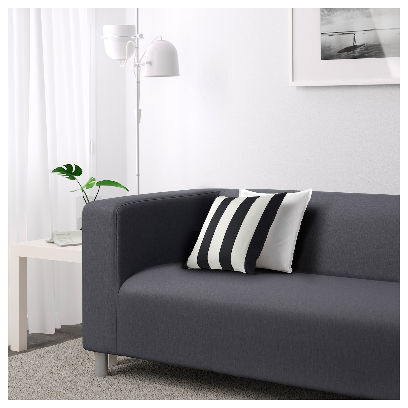 klippan two seat sofa flackarp grey ikea. Black Bedroom Furniture Sets. Home Design Ideas