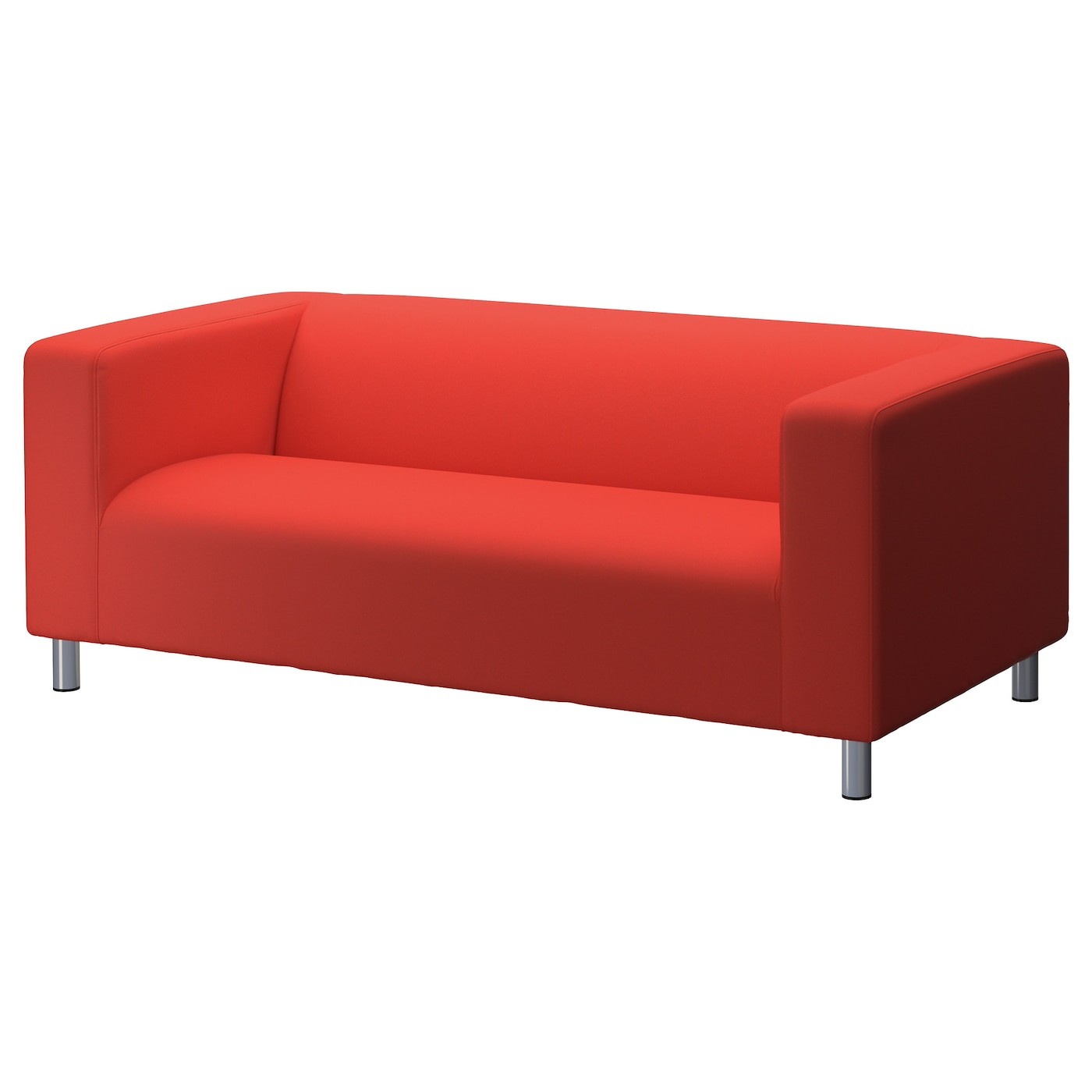 Klippan two seat sofa flackarp red orange ikea for Better by design couch