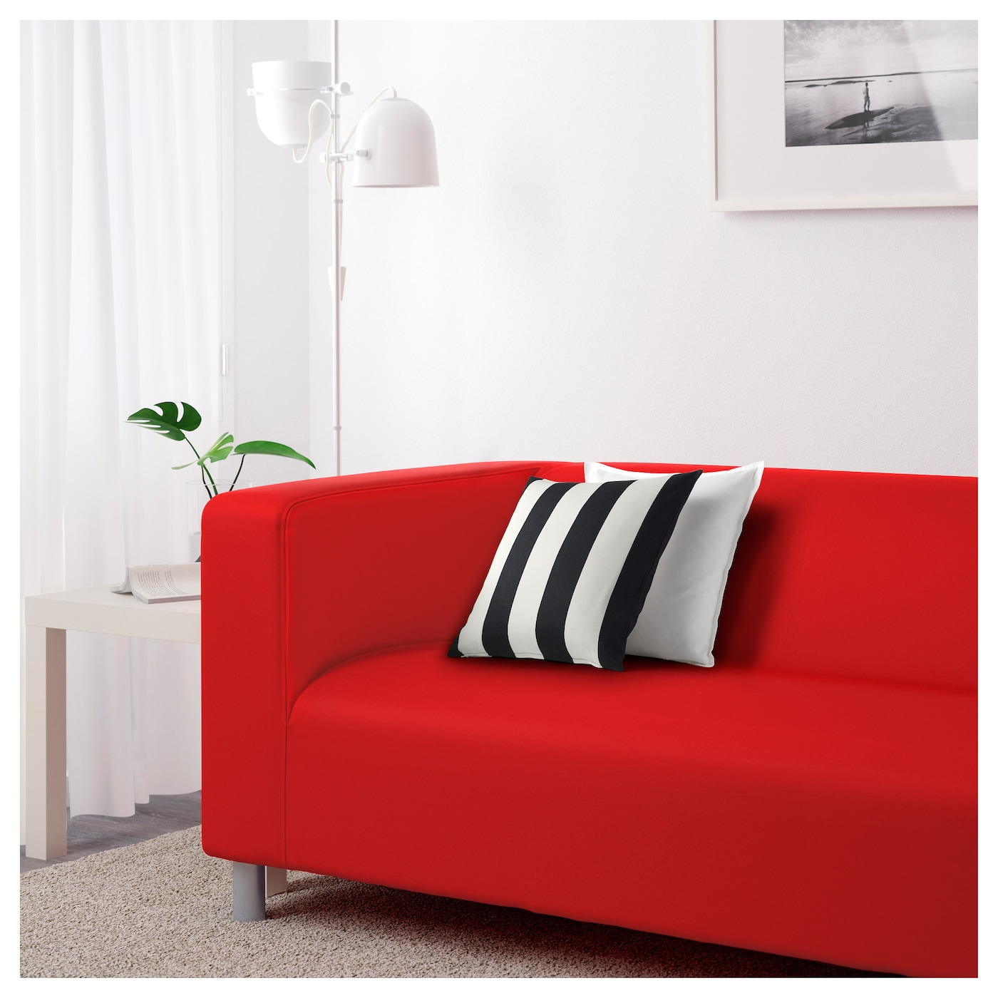 Klippan Two Seat Sofa Flackarp Red Orange Ikea
