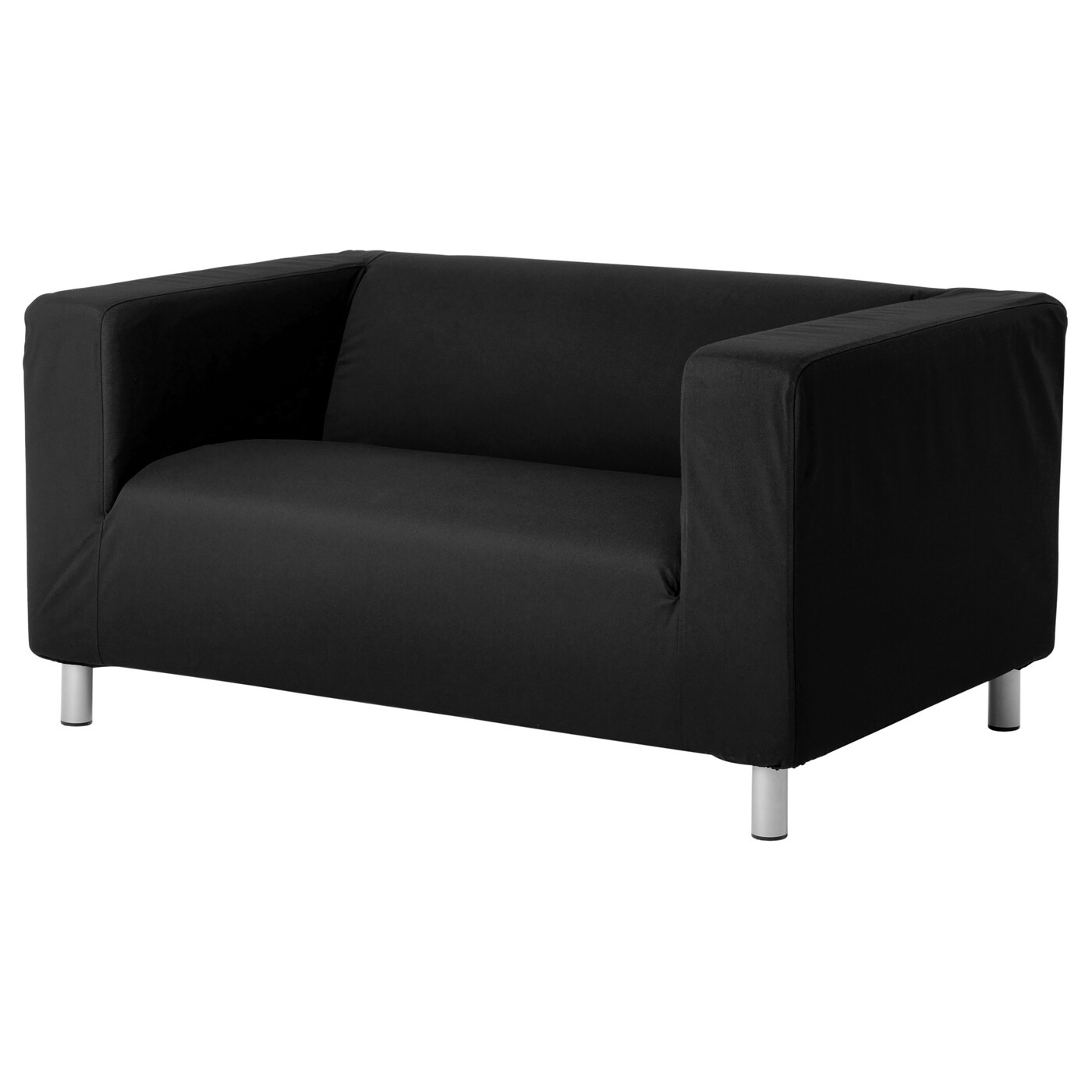 Klippan two seat sofa gran n black ikea for Black fabric couches