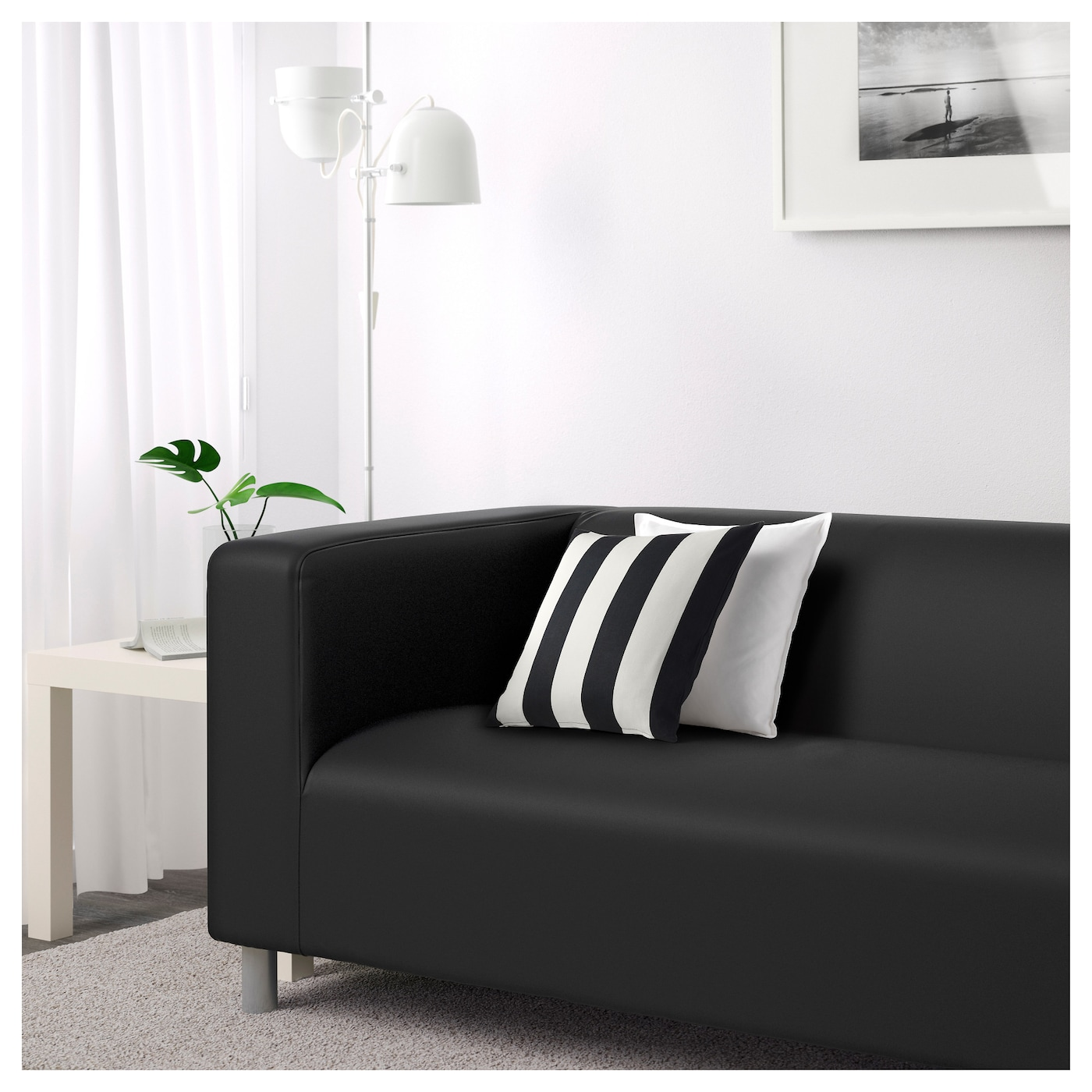 KLIPPAN Two seat sofa Gran¥n black IKEA
