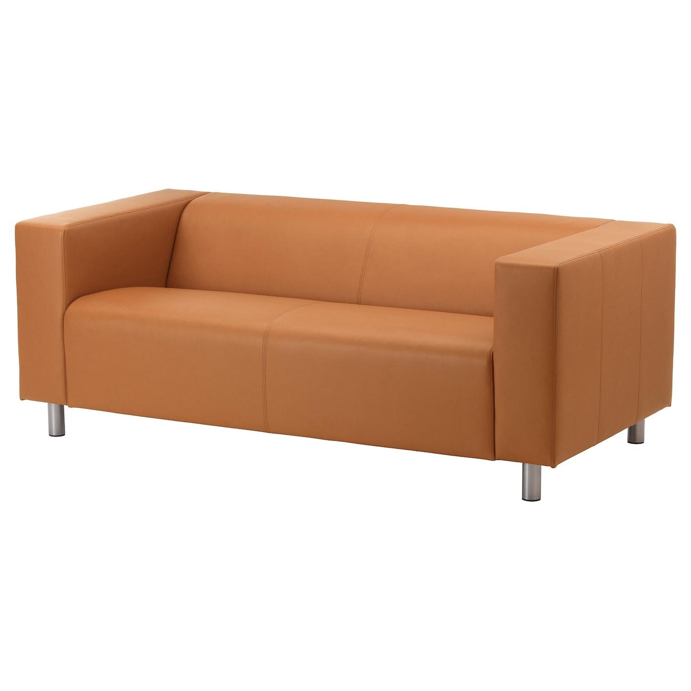Klippan two seat sofa kimstad light brown ikea for Italienisches sofa