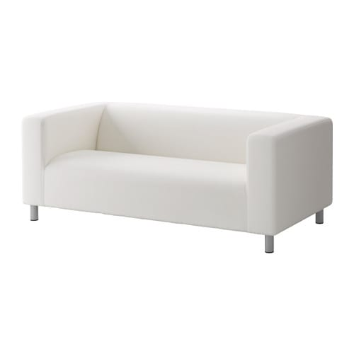 Klippan two seat sofa ransta white ikea for Ikea sofas en cuir