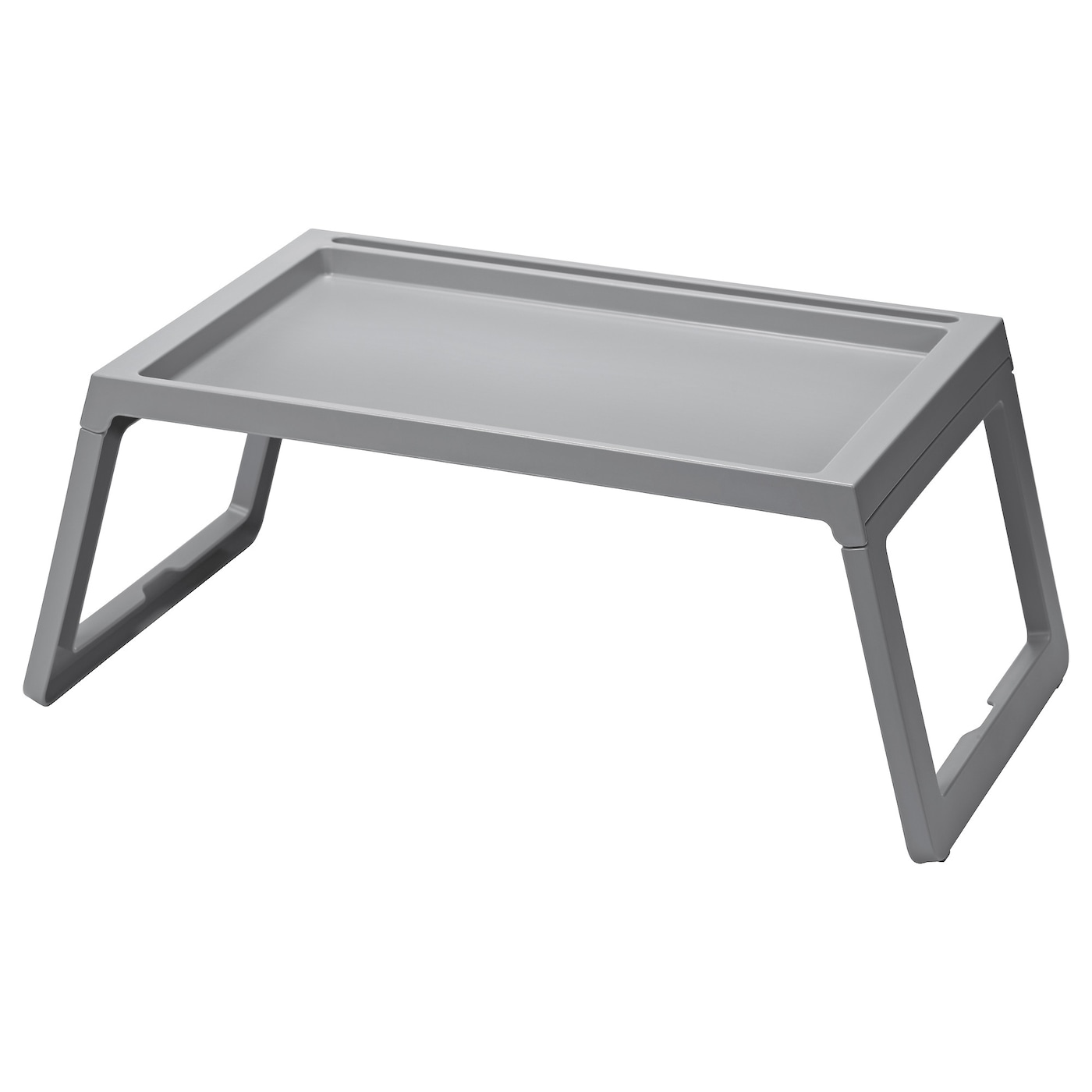 IKEA KLIPSK bed tray Foldable legs make the bed tray easy to store without taking up extra space.