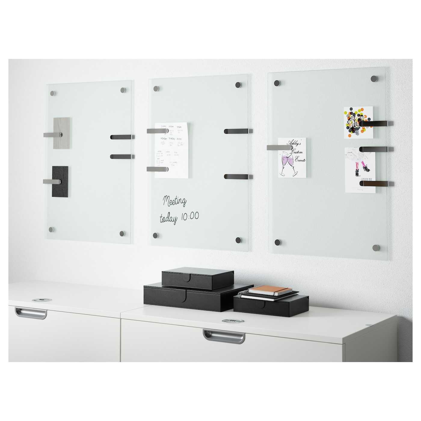 kludd noticeboard glass 65x45 cm ikea. Black Bedroom Furniture Sets. Home Design Ideas