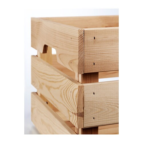 knagglig box pine 46x31x25 cm ikea. Black Bedroom Furniture Sets. Home Design Ideas