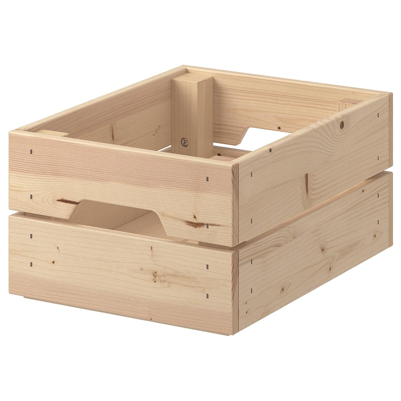 knagglig box pine ikea