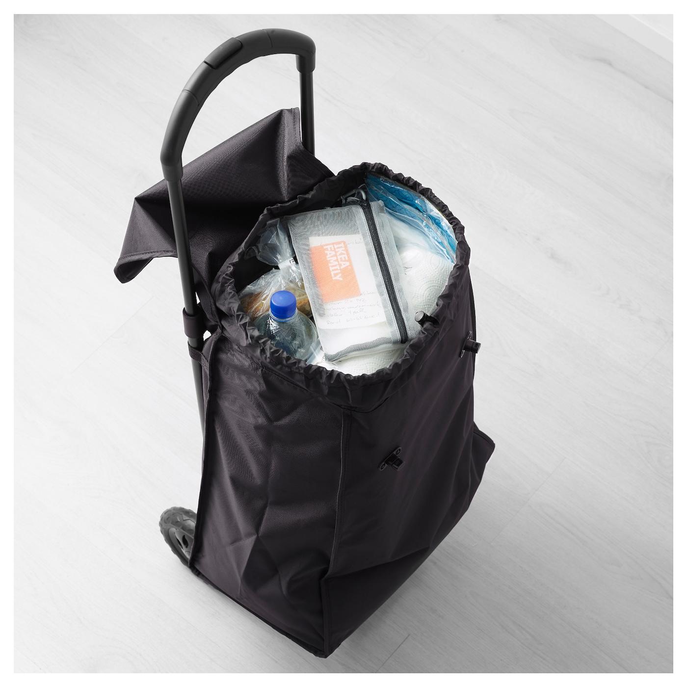 knalla shopping bag on wheels black ikea. Black Bedroom Furniture Sets. Home Design Ideas