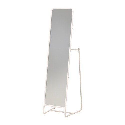 KNAPPER Standing mirror IKEA Tired in the mornings? You can save time by hanging tomorrow's outfit behind the mirror.