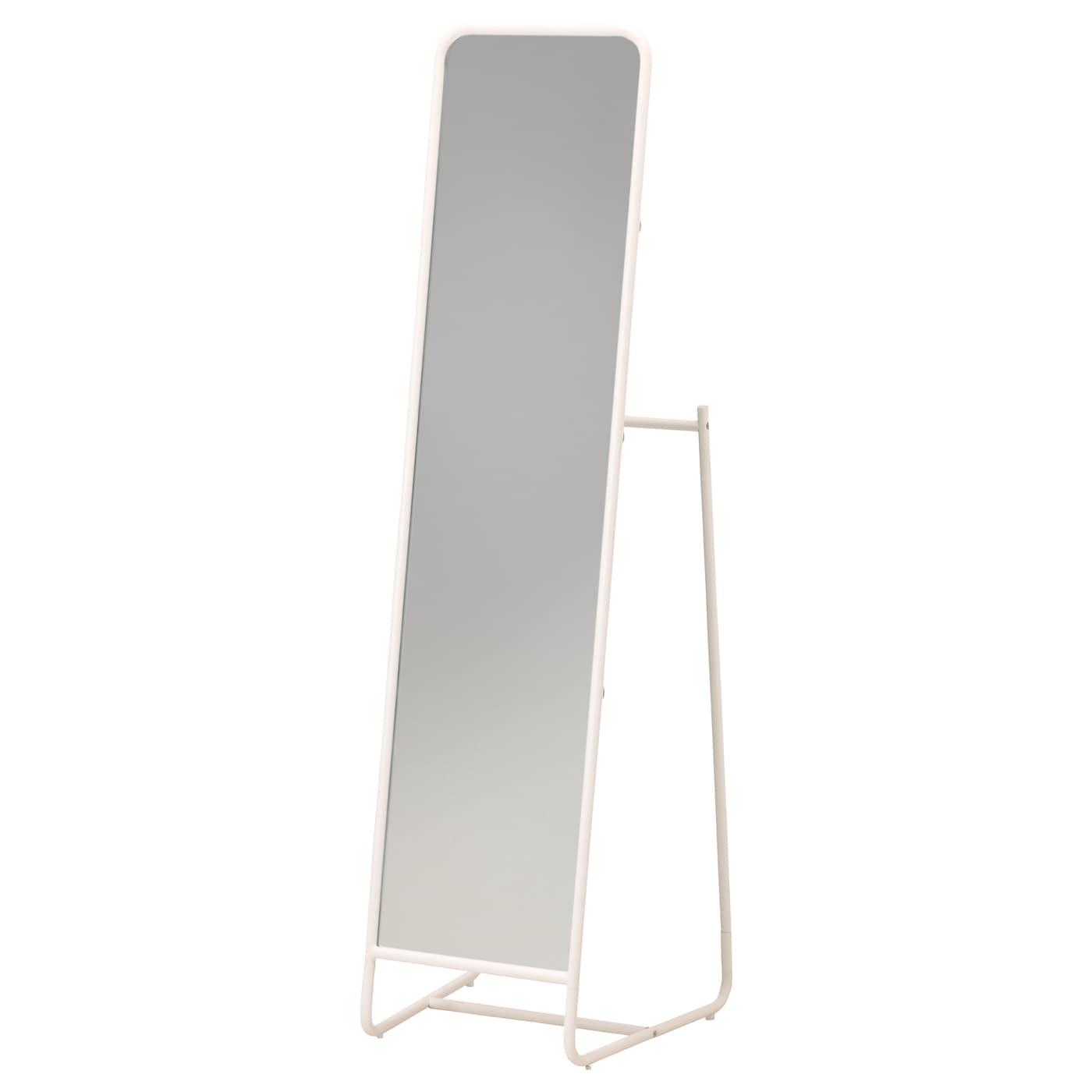 Knapper standing mirror white 48 x 160 cm ikea for Specchio da tavolo ikea