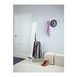 knapper standing mirror white 48x160 cm ikea. Black Bedroom Furniture Sets. Home Design Ideas