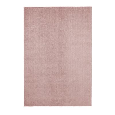 KNARDRUP Rug, low pile, pale pink, 200x300 cm
