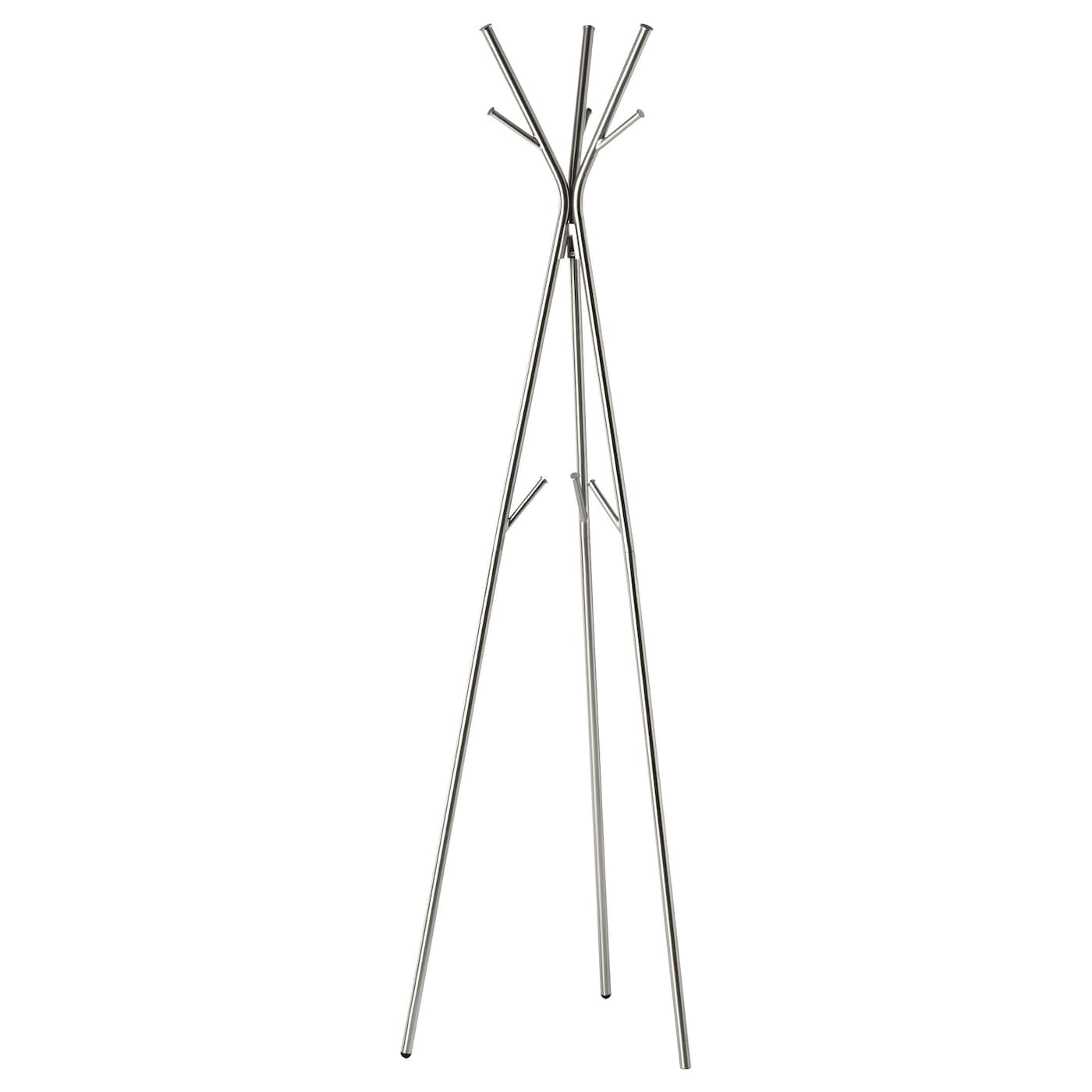 Knippe hat and coat stand nickel plated 170 cm ikea for Ikea coat and hat rack