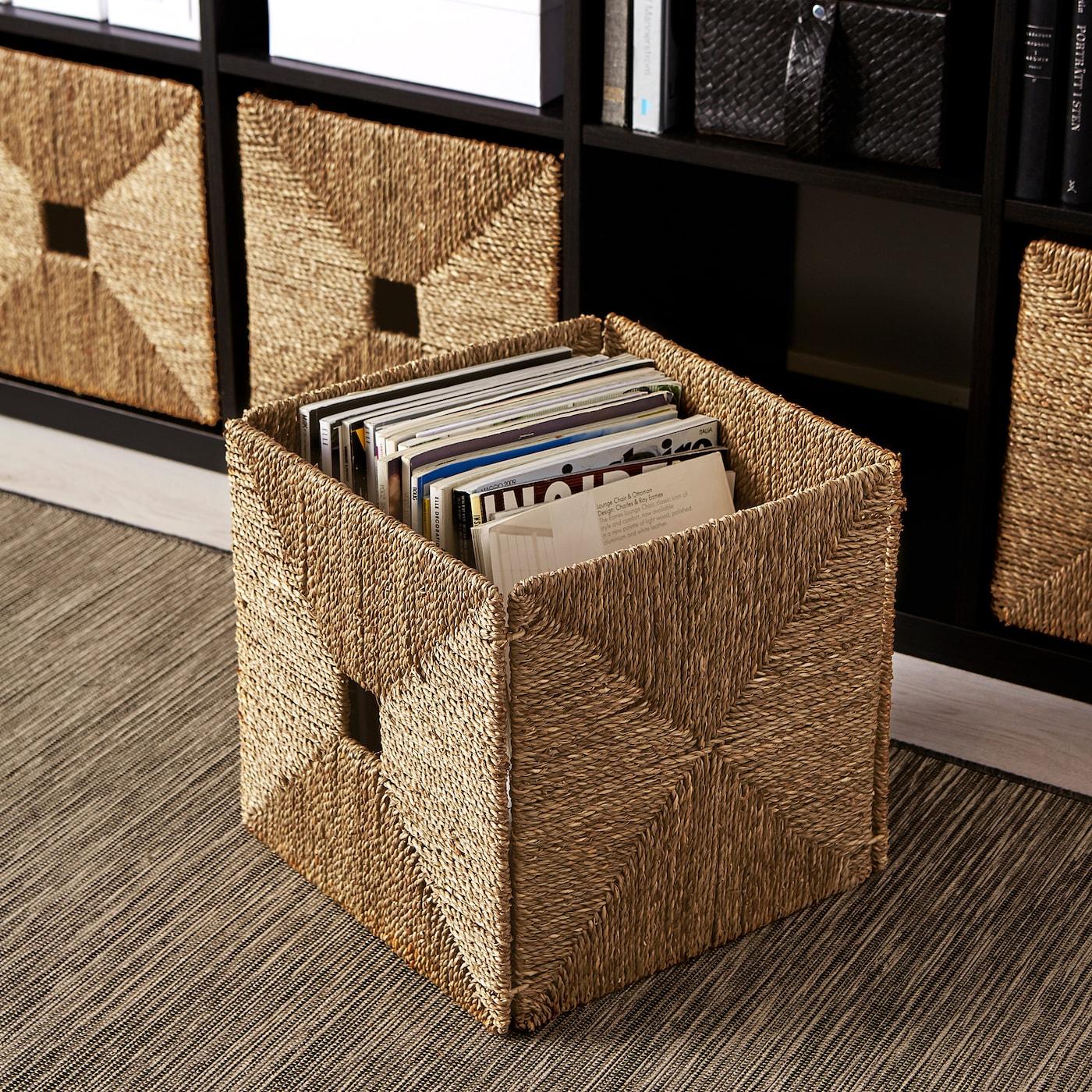 Ikea KNIPSA Basket, seagrass
