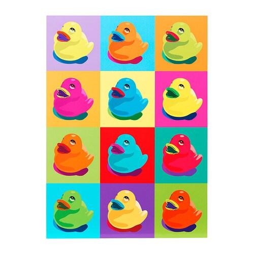 KNISTA Picture, ducks in colour