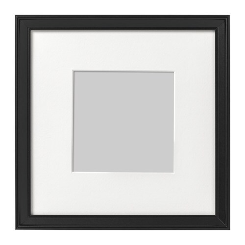 KNOPPÄNG Frame Black 23 x 23 cm - IKEA