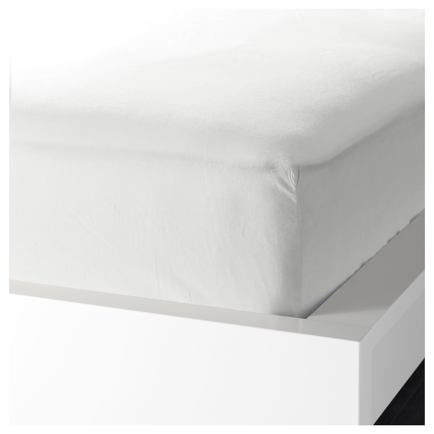 knoppa fitted sheet white 90x200 cm ikea. Black Bedroom Furniture Sets. Home Design Ideas