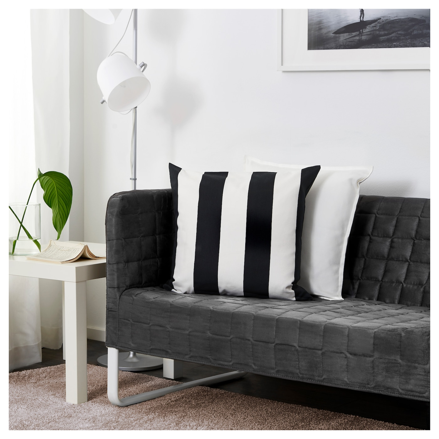 knopparp 2 seat sofa grey ikea. Black Bedroom Furniture Sets. Home Design Ideas