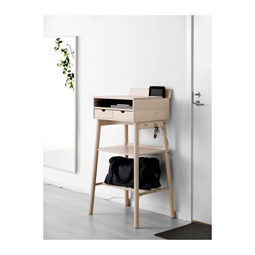 Ikea Knotten Standing Desk You Can Hang Keys And Other Smaller Items On The Hooks