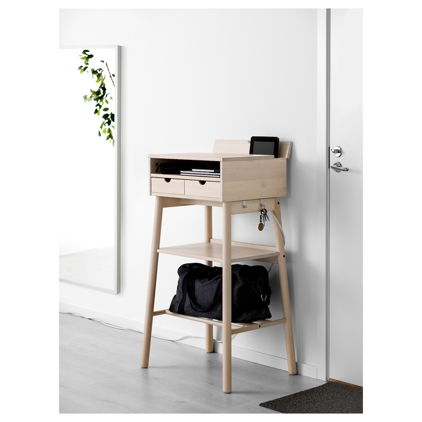 IKEA KNOTTEN Standing Desk You Can Hang Keys And Other Smaller Items On The  Hooks.