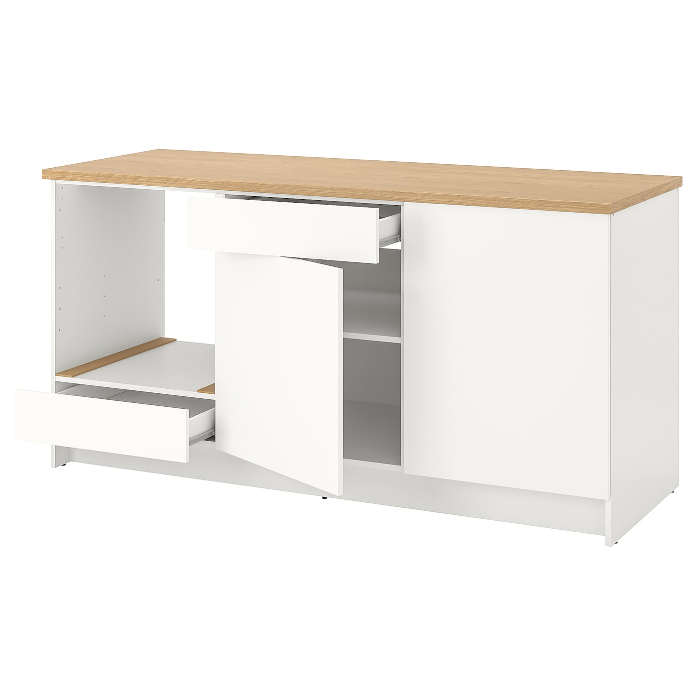IKEA KNOXHULT base cabinet with doors and drawer The door can be mounted to open left or right.