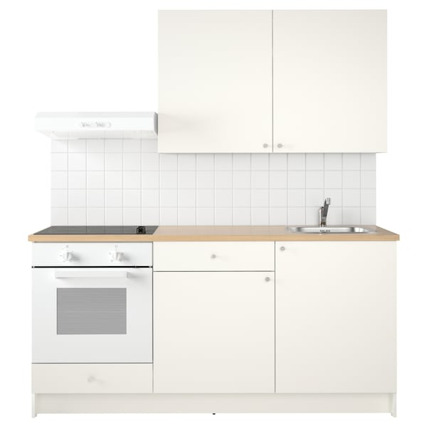 KNOXHULT Kitchen, white, 180x61x220 cm